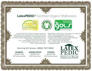 gols certified latex mattress